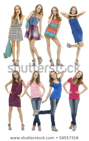 A collage of adolescent girls Stock photo © photography33