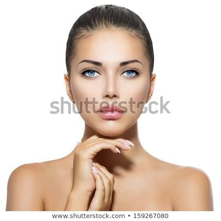 Stock photo: Beautiful Blue Eyed Brunette