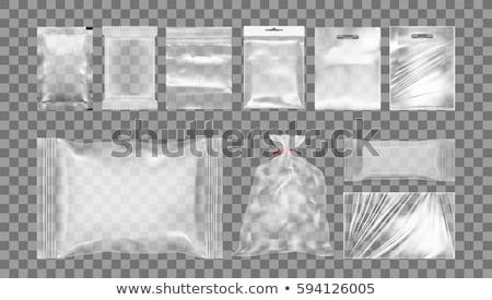Plastikowe worek otwarte sklepu pusty czarny Zdjęcia stock © papa1266
