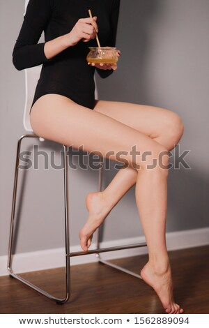 esbelto · mujer · blanco · ropa · interior - foto stock © phakimata