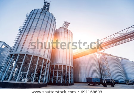 metal silo Stock photo © Rambleon