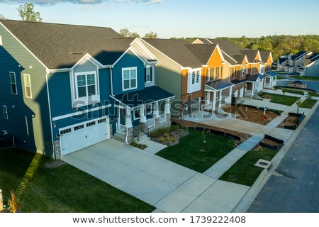 newly constructed home with two car garage stock photo © arenacreative