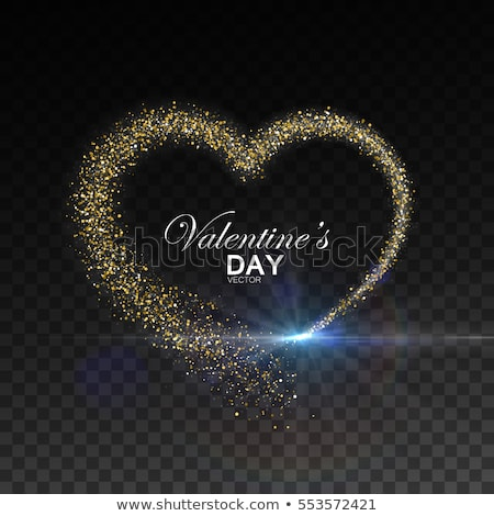 Golden wallpaper with heart-shaped ornaments stock photo © MilosBekic