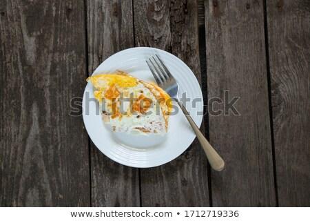 Stockfoto: Eieren · oude · tabel · geïsoleerd · zwarte · voedsel