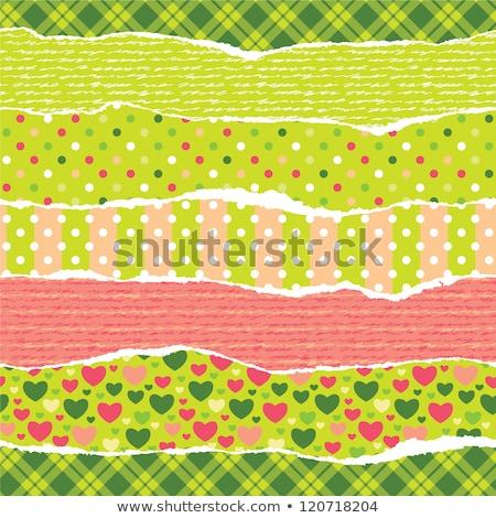 Gescheurd inpakpapier harten naadloos vector trillend Stockfoto © jet