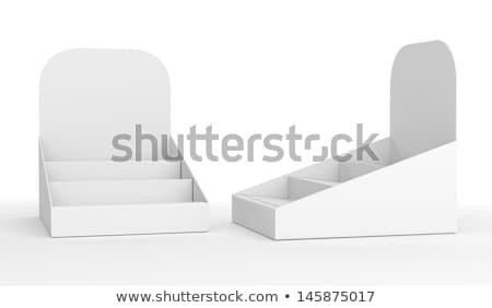 Fehér hirdetőtábla kirakat áll tábla űr Stock fotó © happydancing