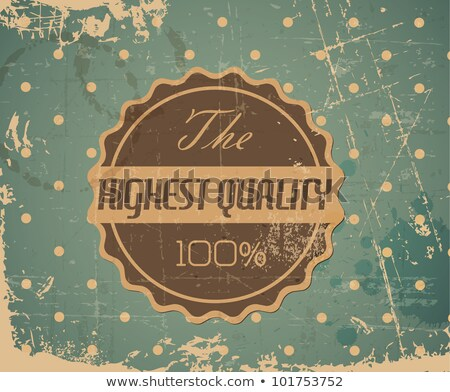 old vector round retro vintage grunge label   highest quality stock photo © orson