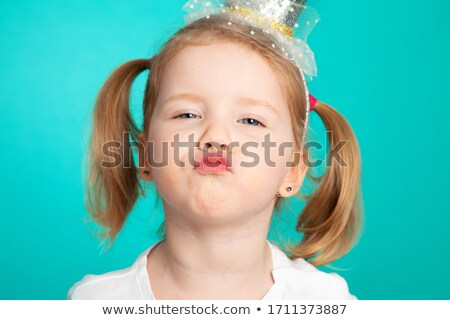 Little girl pulling funny face Stock photo © photography33