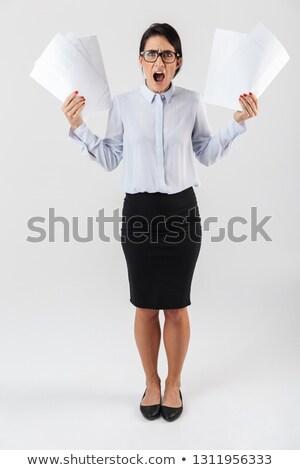 kadın · Dosyaları · çalışma · avukat · bilgi - stok fotoğraf © stockyimages