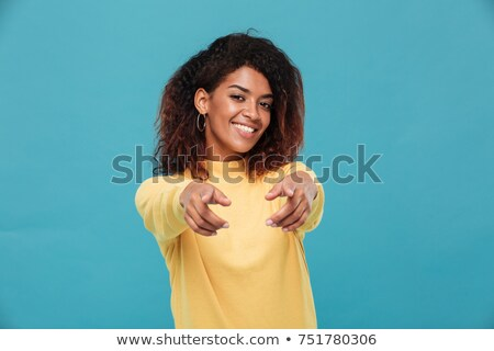 Stock photo: Young Female Pointing At You