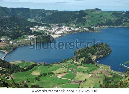 Portugal · zeven · steden · eilanden · water · gras - stockfoto © prill