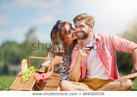woman with glass of wine ll Stock photo © ssuaphoto