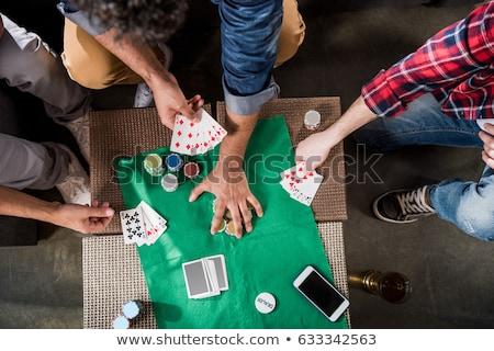 изображение · человека · игральных · карт · белый - Сток-фото © stockyimages