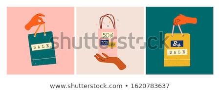Stok fotoğraf: Eller · renkli · mutlu · alışveriş