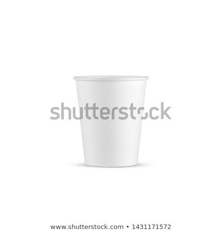 Branco descartável copo café líquido Foto stock © ozaiachin