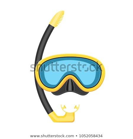 Zwemmen masker kant Blauw zwembad silicone Stockfoto © backyardproductions