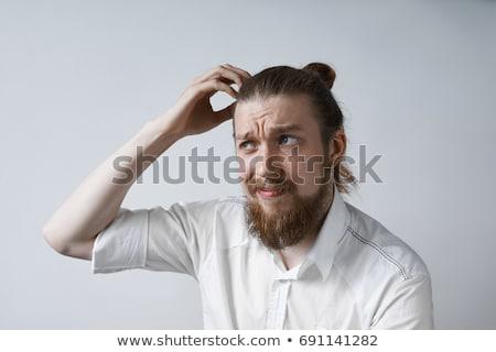 困惑して 男 頭 孤立した 白 顔 ストックフォト © pzaxe