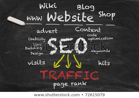 Photo stock: Chalkboard - Search Engine Optimization