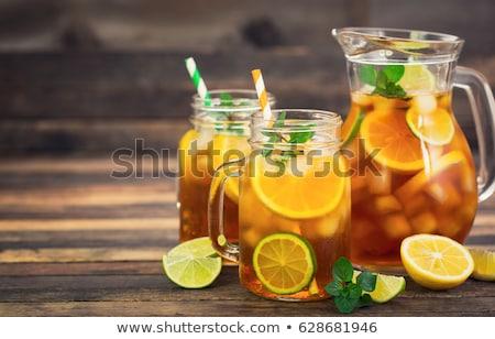 Ice tea pitcher Stock photo © broker