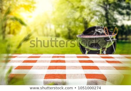 heerlijk · barbecue · grillen · voedsel · brand · diner - stockfoto © racheld32