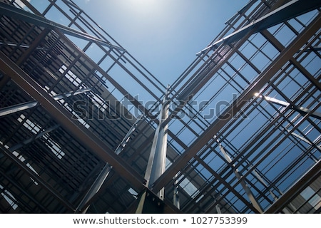 steel frame roof beams stock photo © lisafx
