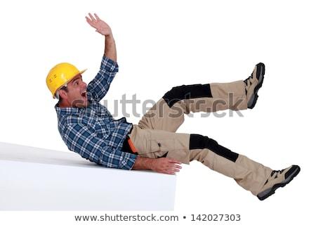 Bouwvakker vallen gezicht weg man bouw Stockfoto © photography33