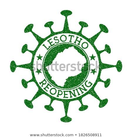 Mail Lesotho obraz pieczęć Pokaż banderą Zdjęcia stock © perysty