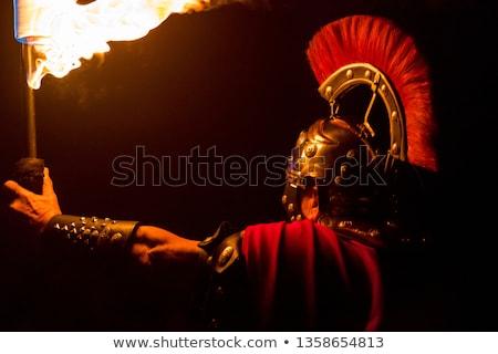 ışık · kılıç · düello · adam · soyut · arka · plan - stok fotoğraf © curaphotography
