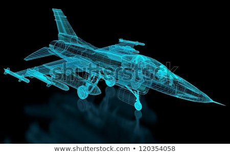 Jet Fighter Aircraft  Mesh Stock photo © nmcandre