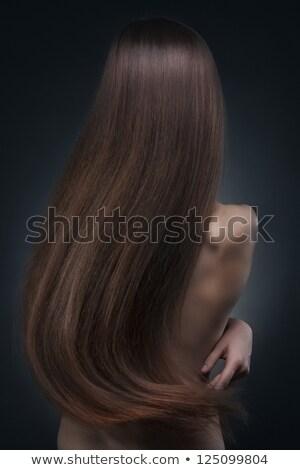 Jovem morena menina bela mulher magnífico cabelos longos Foto stock © Victoria_Andreas