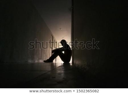 Rozpacz piękna kobieta interesu odizolowany biały kobieta Zdjęcia stock © lisafx