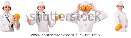 Montage of woman holding various fruits Stock photo © photography33