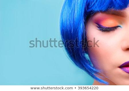 Mooie vrouw pruik geïsoleerd mode model Stockfoto © acidgrey