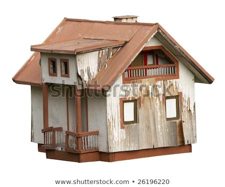 家 モデル 鳥の巣 孤立した 白 ホーム ストックフォト © raywoo