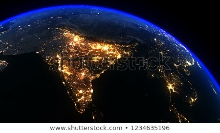 África India global mundo espacio vector Foto stock © fenton