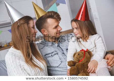 little girl celebrating her birthday with all her family stock photo © photography33