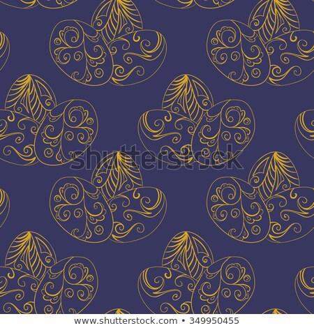 Ovo dourado vintage padrão decoração eps vetor Foto stock © beholdereye