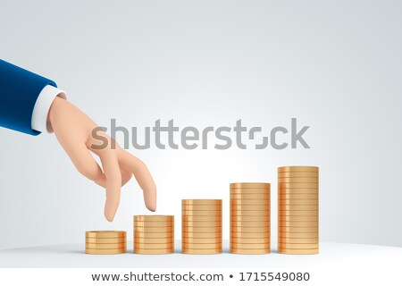 Stock photo: coins stairs