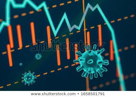 Globale economisch crisis wereld markt grafiek Stockfoto © Silvek