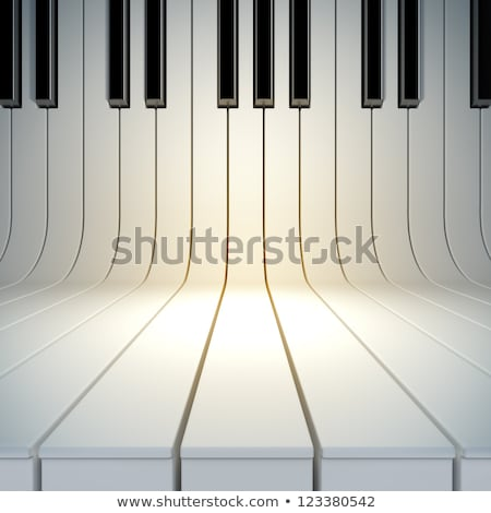 Black and white keyboard of a piano stock photo © wavebreak_media