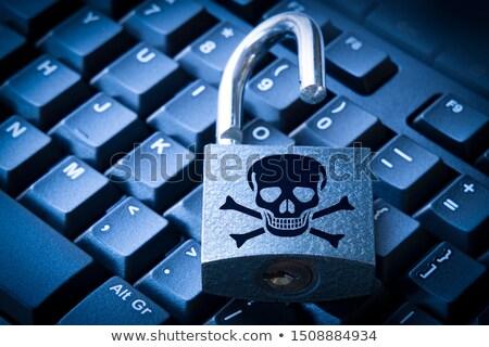 Stock photo: Jolly Roger padlock with keys