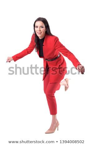 деловая · женщина · падение · женщину · исполнительного · менеджера · студию - Сток-фото © photography33