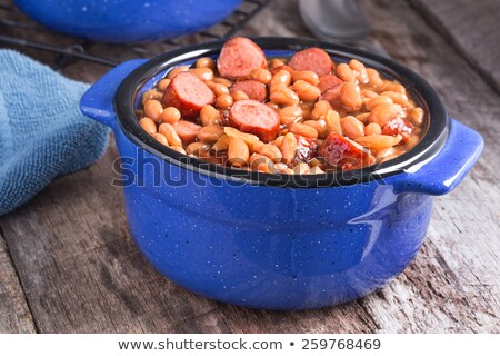 Lunch of Franks and Beans Stock photo © dbvirago