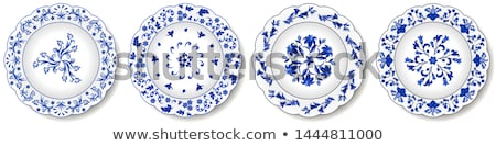 placa · blanco · aislado · alimentos · pintura - foto stock © shutswis