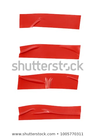 red insulating tape isolated on white background stock photo © leonardi