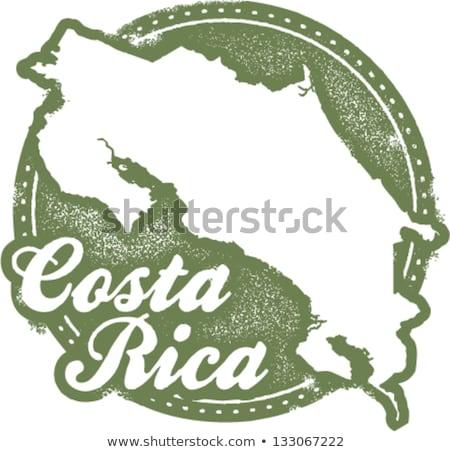 コスタリカ 観光 スタンプ 画像 国 休暇 ストックフォト © squarelogo