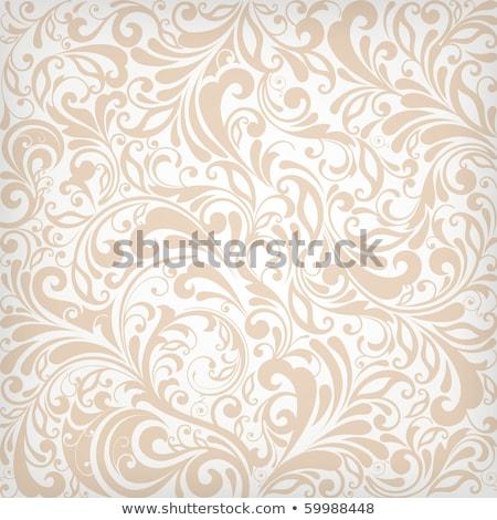 ベクトル グランジ フローラル 抽象的な 描いた レトロな ストックフォト © WaD