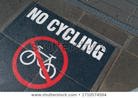 Pas vélo signe vert vélo Photo stock © Snapshot