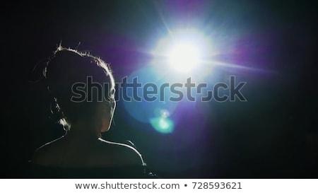 Opera şarkıcı görüntü bayan beyaz müzik Stok fotoğraf © dolgachov