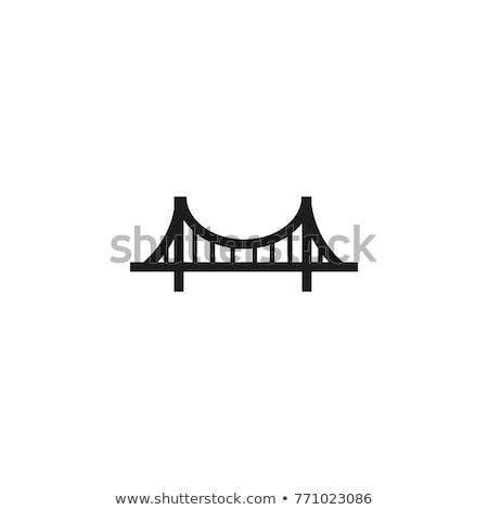 Vector icon bridge stock photo © zzve